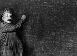 理系の黒板アインシュタイン