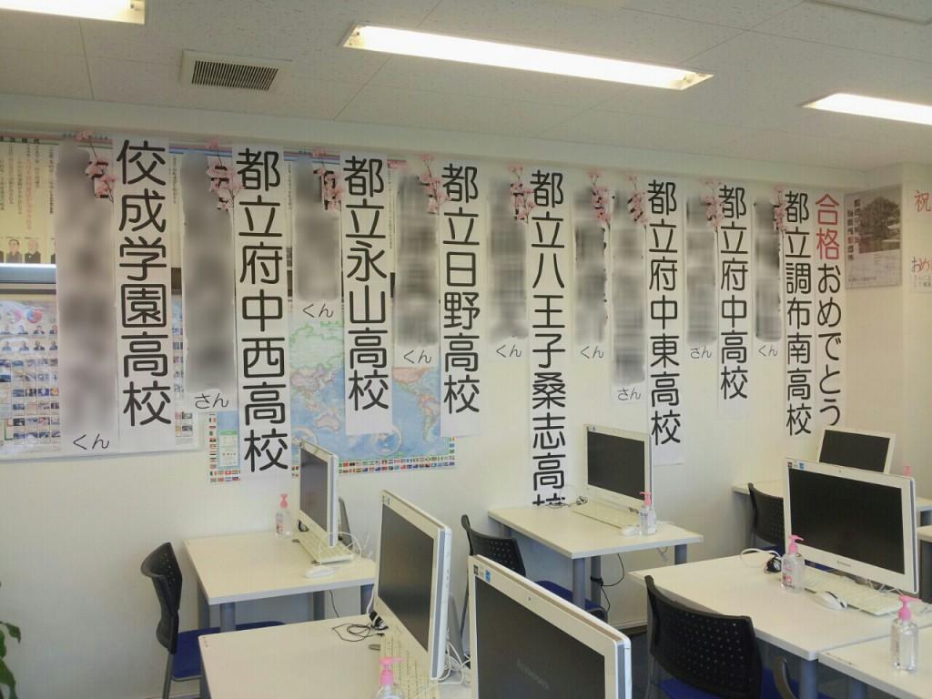 教室内、合格おめでとうの壁紙